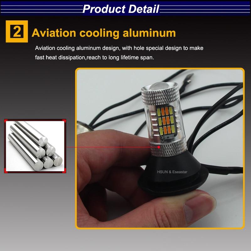 Eseastar 2pcs BA15S 7440 3156 S25 Yüksək Güclü LED Avtomobil - Avtomobil işıqları - Fotoqrafiya 3