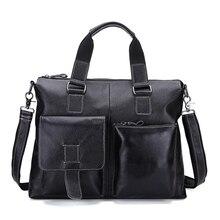 Vintage Echtem leder herrentasche aktentasche Retro messenger laptoptasche handtasche männer reisetaschen hochwertige umhängetasche