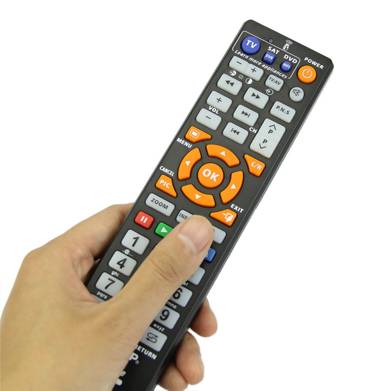 IR Universal Smart Remote Control Controller With Learn Function For TV VCR CBL DVD SAT-T VCD CD HI-FI High Quality