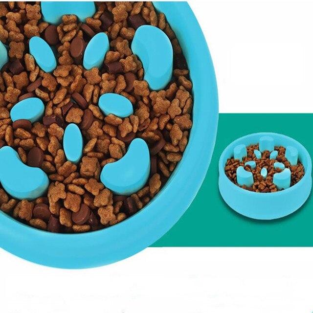 New Pet Dog Slow Feeder Anti Choke Anti-Gulping Dog Bowl Puppy Feeding Feed Food Bowl Flower Shape Healthy Food Dish
