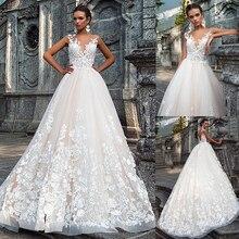 Женское свадебное платье Its yiiya, белое кружевное платье А силуэта с 3d аппликацией на лето 2019