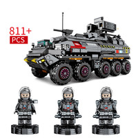 811pcs 2019 New Building Block Bricks Toys Compatible Military Legoing Technic City Engineering Medium Transport Vehicle Figures