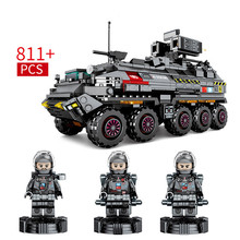 811pcs Building Block Bricks Toy Compatible With Legoingly Military Friends Technic Engineering Medium Transport Vehicle Figures technic series remote control engineering car building block enlighten diy toy compatible legoinglys educational toy 638pcs