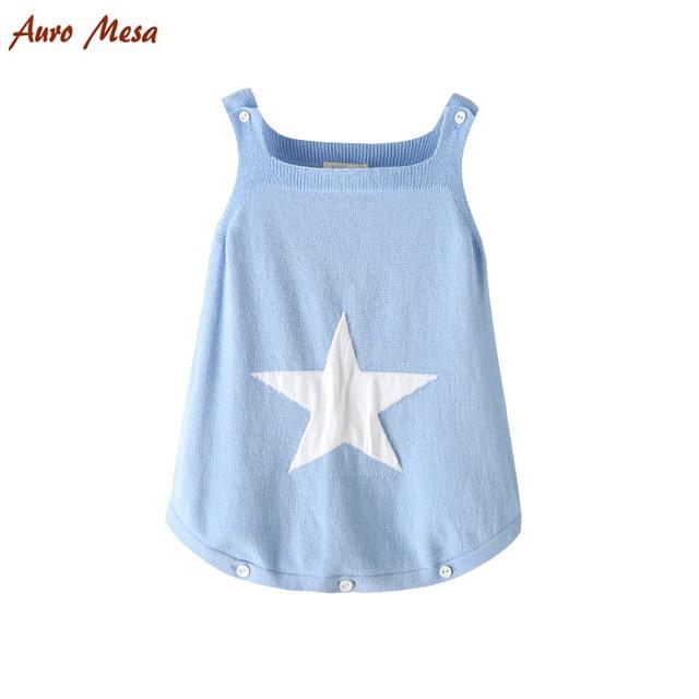 7c192f13d AuroMesa Newborn Baby Knitting Clothes Sleeveless baby bodysuits ...