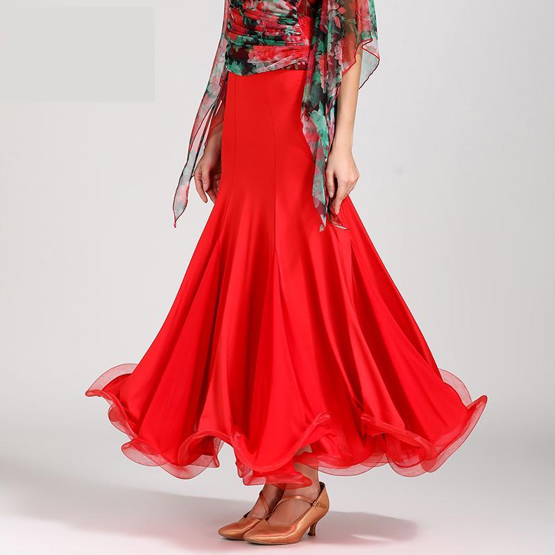 Nouveau Costume de danse Flamenco jupe longue salle de bal danse moderne Standard valse danseur arête robe espagne Performance tenues
