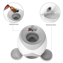 Cat Dog Game Machines Pet Dog Toy Training  Automatic Interactive Ball  Food Reward Multifunction Machine Toy Gray