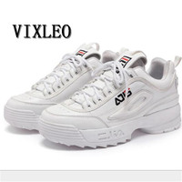 VIXLEO 2018 New women shoes Disruptor 2 Sneakers Cushioning Running Shoes Breathable Wave Sports Shoes for Triple S Sneaker