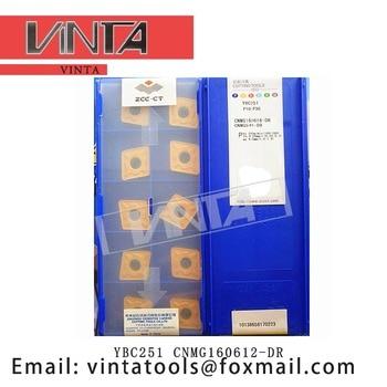 Free shipping high quality 10pcs/lots YBC251 YBC252 CNMG160612-DR cnc carbide turning inserts cutting blade tools