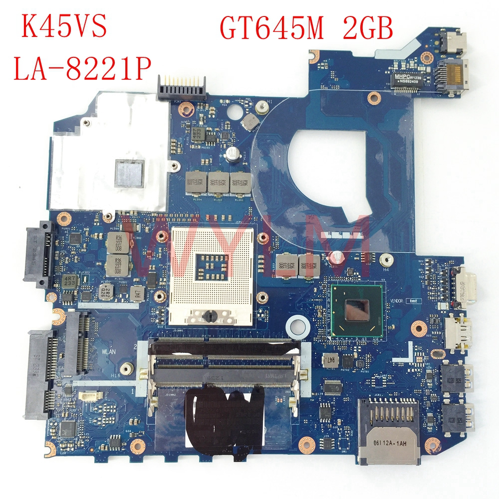 K45VS QCL40 LA-8221P GT645M 2G mainboard For ASUS K45VS A45V A85V K45V K4VM K45VJ K45VD Laptop motherboard free shipping k45vd val40 la 8226p with i3 cpu gt610m 2gb mainboard for asus a85v a45v k45v k45vm k45vd laptop motherboard free shipping