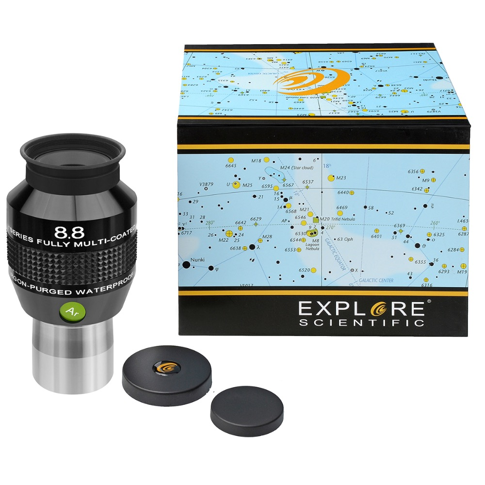 New Explore Scientific Eyepiece 82 degree Extreme Wide Field Waterproof 1 25inch 8 8mm Argon Purged