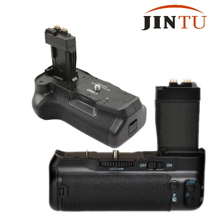 JINTU Pro <font><b>Battery</b></font> <font><b>Grip</b></font> for <font><b>Canon</b></font> EOS 550D 600D <font><b>650D</b></font> Rebel T2i T3i T4i DSLR Camera as BG-E8 LP-E8 Vertical shutter <font><b>Grip</b></font> holder image