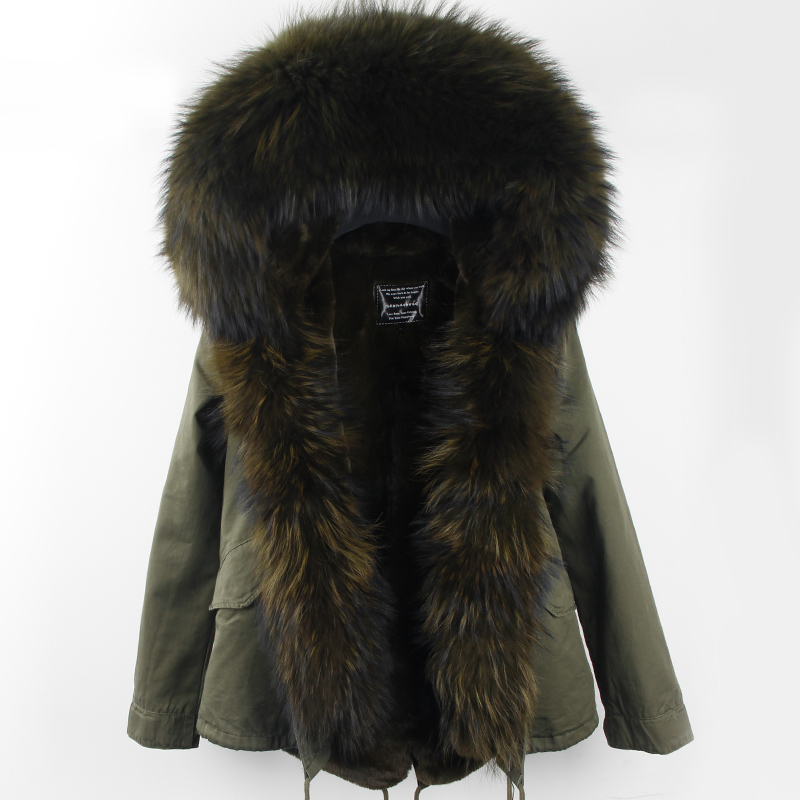 Winter Coat Women 2017 New Army Green Camouflage Parkas With Big Large Real Raccoon Fur Collar Hooded Thick Warm Outwear Brand 2