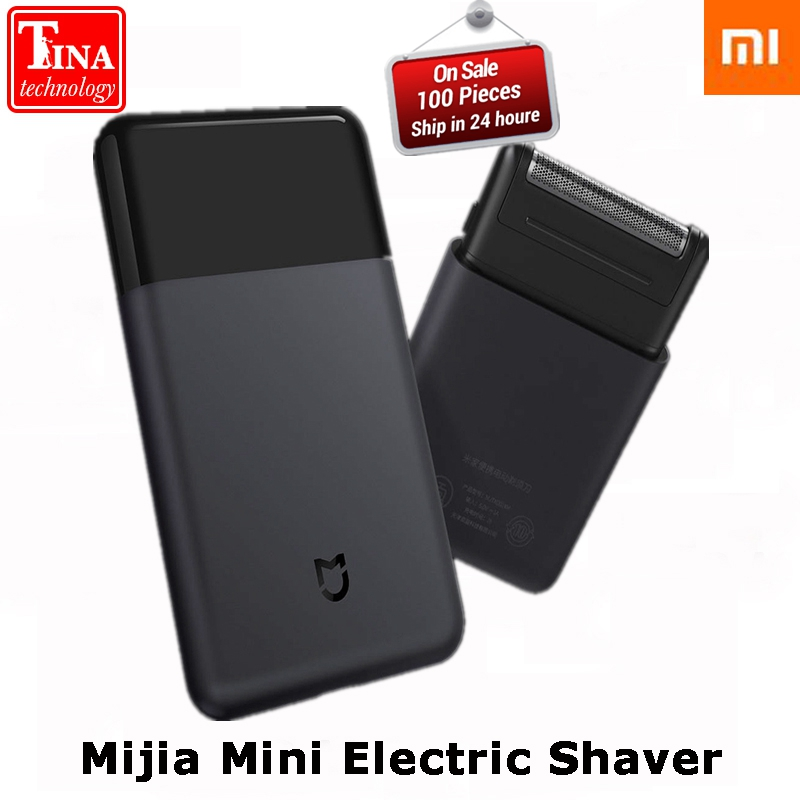 Original Xiaomi Mijia Mini Portable Electric Sha-ver Japan Steel Cutter Head Metal Body USB Type-C Big Battery Portable Razor