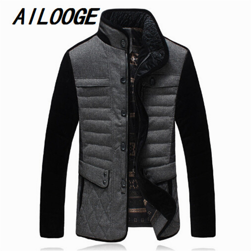 brand mens business casual down jacket jacket winter thick warm coat large mosaic of high quality material Size M-5XL