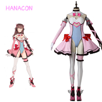 2017 Anime Hana Song D Va Cosplay Costume Lolita Dress Christmas Halloween Cute Woman Game Uniform