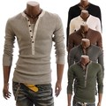 5 Цвета Мужчины футболка с длинным рукавом Известный бренд Clothing Футболка homme