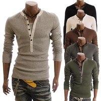 5 Colors Men T Shirt Long Sleeve Famous Brand Clothing Tshirt Homme