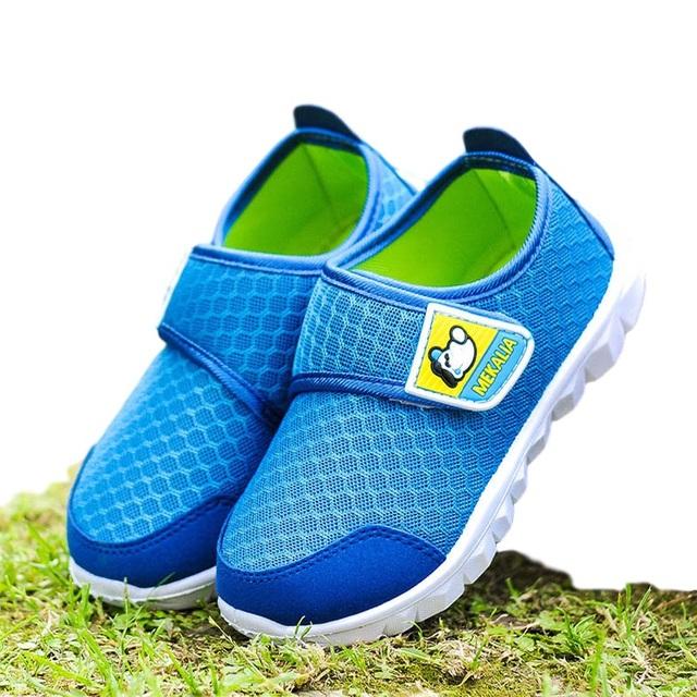 Verão das crianças sports shoes bebê malha respirável shoes