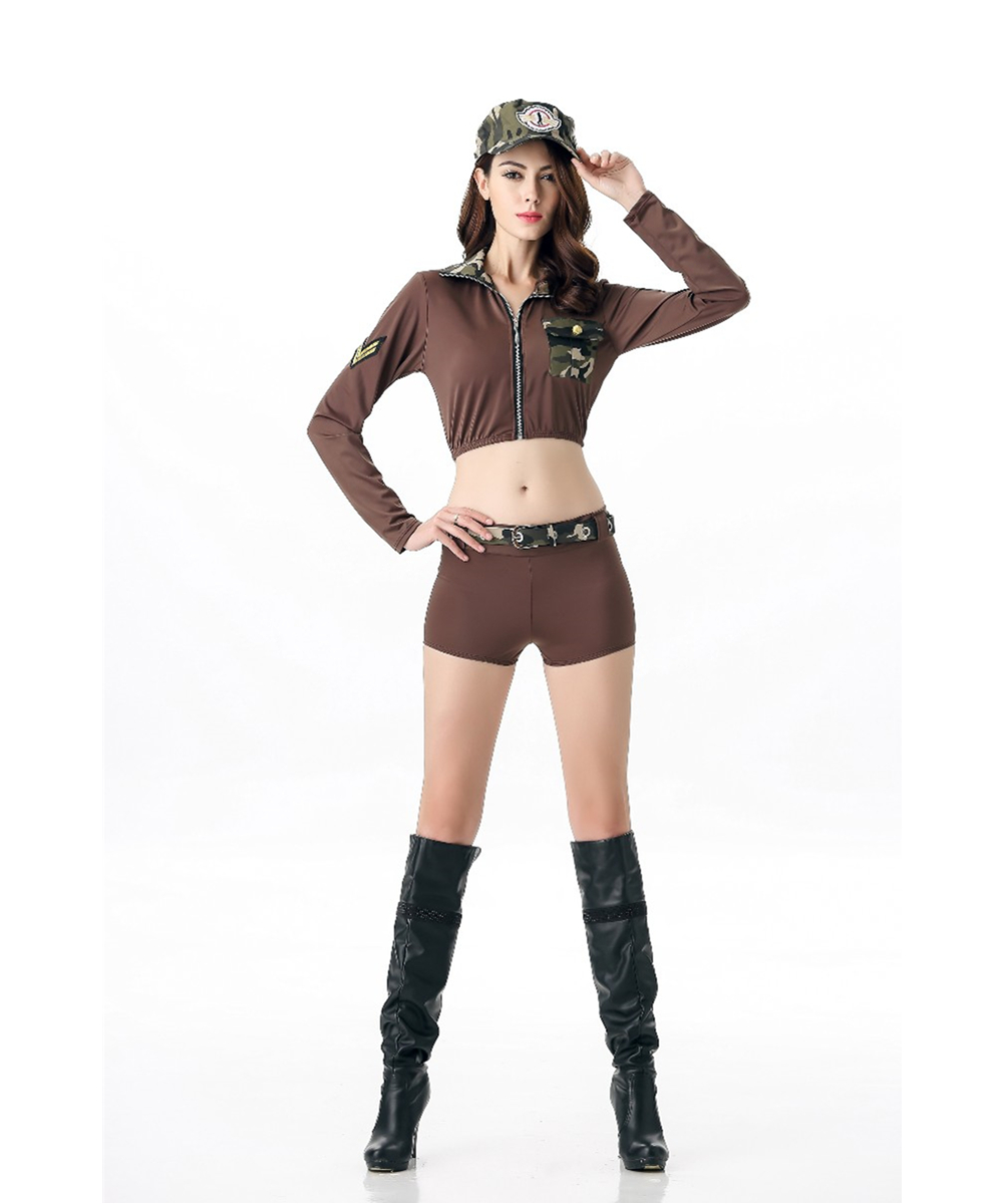 womens sexy soldier babe costume l15406china - Soldier Girl Halloween Costume