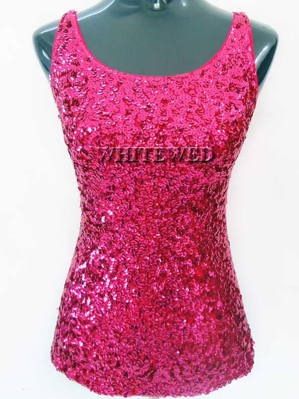 b4315b26611792 ... Sleeveless Formal Sequin Embellished Sparkle Glitter Cocktail Club  Party Wear Cowl Neck Tank Top Vest Womens ...