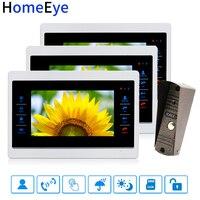 HomeEye 7 ''וידאו פעמון וידאו דלת טלפון אינטרקום קול זיהוי תנועת הודעה OSD תפריט מגע כפתור וידאו שיא בפתיחת