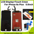 """Alta qualidade SEM Manchas Nenhum pixel 5.5 """"telefone celular lcd display lcd + touch screen + digitador toque de vidro com 3d para iphone 6 s plus"""