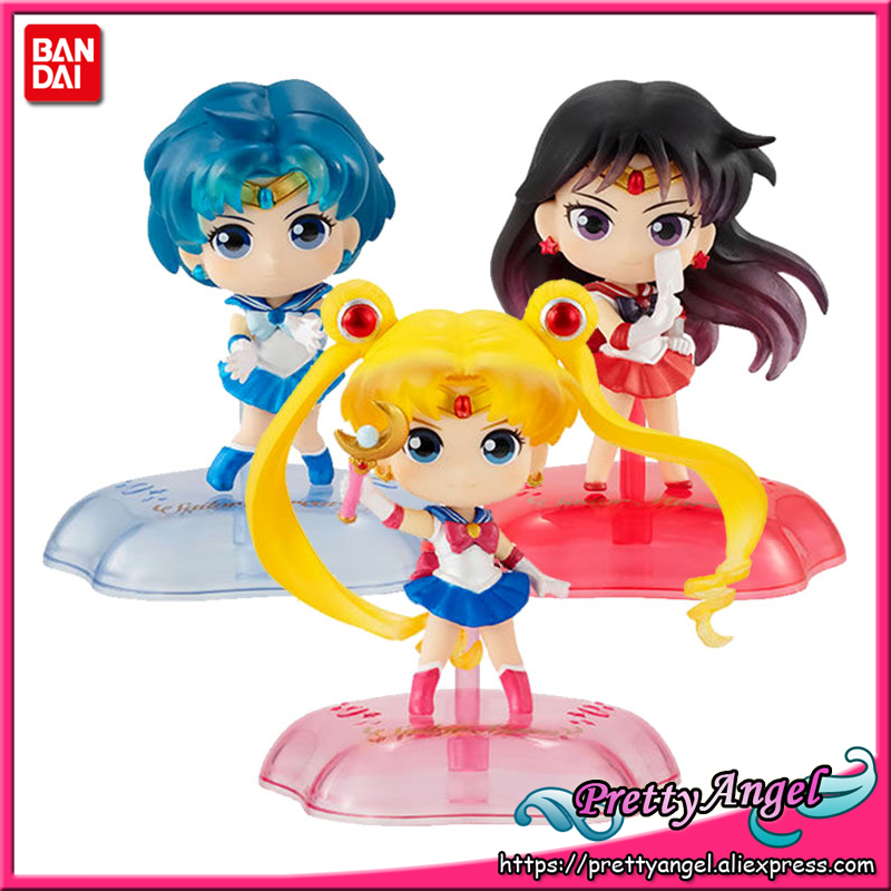 Bandai Sailor Moon Twinkle Statue Gashapon 3 set mini figure capsule toys