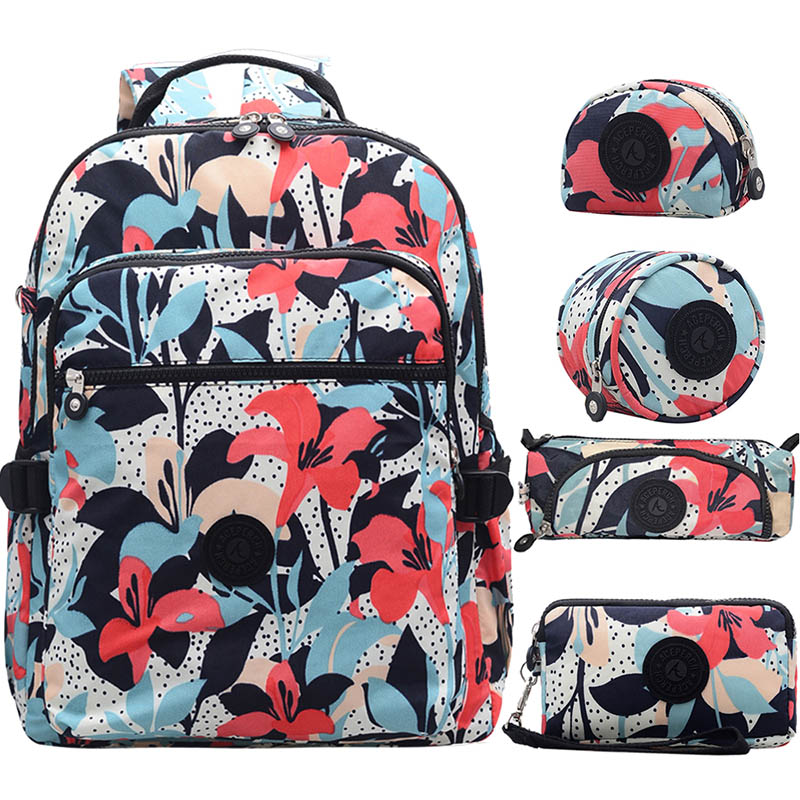 ACEPERCH Women Mochila Escolar Feminina Multifunction School Girl Bag pack Original Nylon Waterproof Backpacks Female Sac 2019(China)