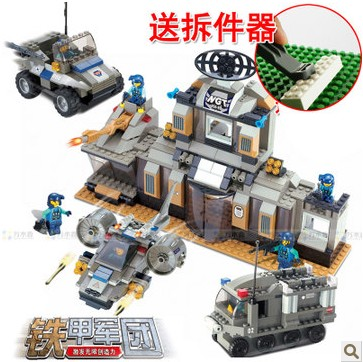 ФОТО WOMA J5623 Military Series Armoured Car and Tank Building Block Sets 653pcs Educational DIY Bricks Toys for children