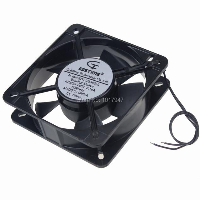 5 Unidades porción Gdstime 2 Hilos 135x135x38mm AC 220 V 240 V caja de La Computadora PC Metal Ventilador De Refrigeración