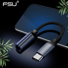 Typ c do 3.5mm Jack słuchawki USB C do 3.5mm AUX słuchawki Adapter do Xiao mi mi 6 8 9 SE Huawei mate 20 P30 pro kabel Audio(China)