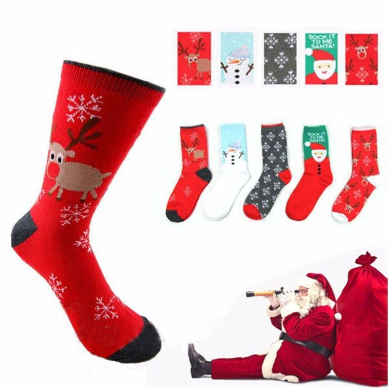 New Stylish Unisex Mens Womens Christmas   Socks   Santa Snowman Snowflake   Socks   Filler Hosiery 9 Style   Sock