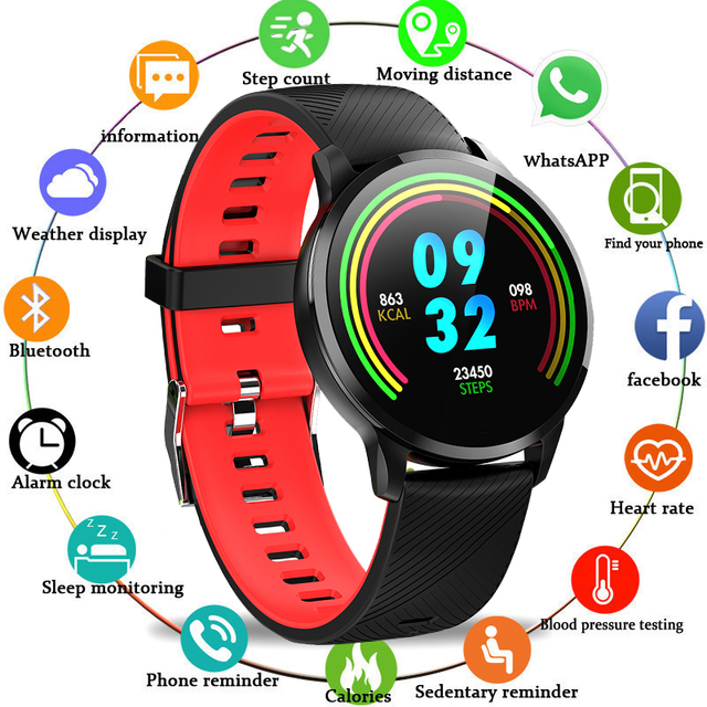 BANGWEI Ne'w Smart Watch OLED Color Screen Smartwatch women Fashion Fitness Tracker Heart Rate monitor Men watch For Android IOS