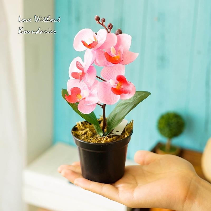 Moh orhideja, orhideja metulja, Simulacija umetnega cvetja, Okrasitev - Prazniki in zabave - Fotografija 4