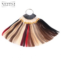 Neitsi Human Hair 30 Color Rings Color Charts For Human Hair Extensions Salon Hair Dyeing Sample