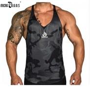2017 Newest Top Men S Clothing Gyms Tank Top Low Cut Armholes Vest Sexy Men S