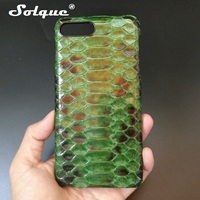 Solque Luxury Original Python Skin Leather Phone Case For IPhone 8 Plus Natural Real Genuine Leather
