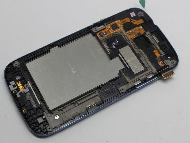 Cor azul Original Screen Display Lcd + de toque digitador de vidro + quadro assembléia para samsung galaxy núcleo Duos i8262 i8260