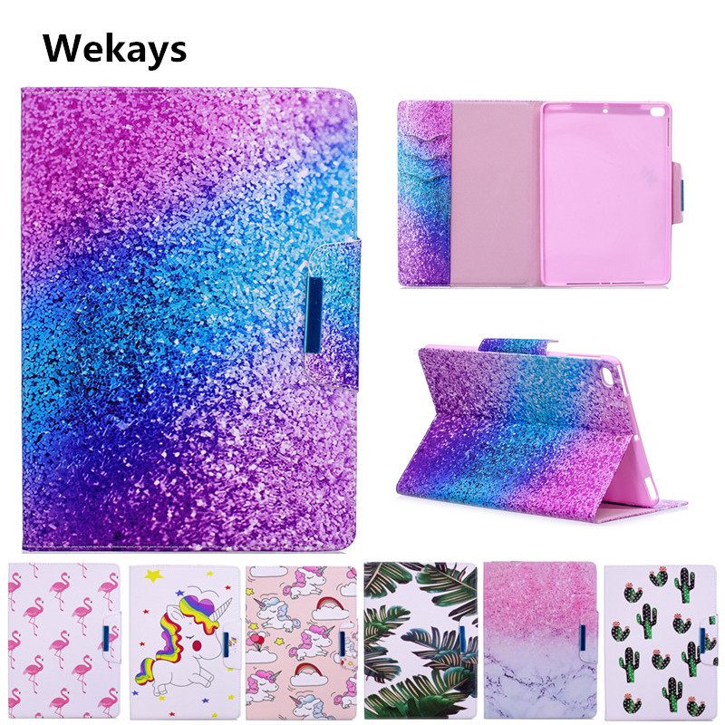 Wekays Case for Apple IPad Air 2 Cute Cartoon Flamingo Unicorn PU Flip Leather Cover Case For iPad 6/ Air2 For ipad6 model Capa fashion yb for apple ipad air 2 air2 flip pu leather case cover cute tower tablet stand case with card holder for apple ipad 6