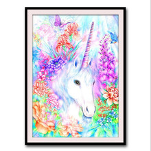 5d diy diamond painting cartoon animal mosaic landscape picture rhinestone embroidery flower square decoration