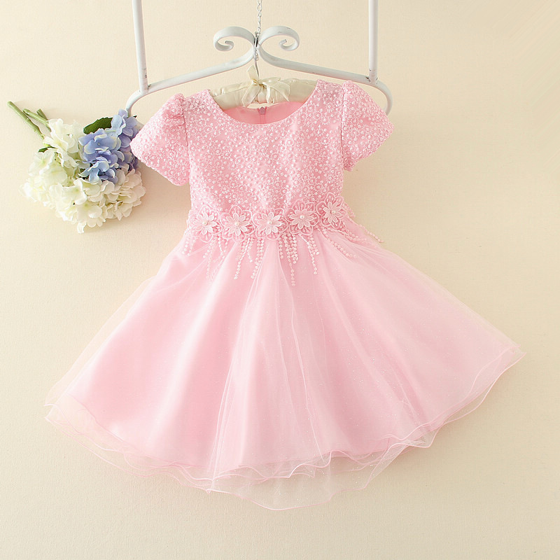 Fashion Sequined Flower Girl Dress New Girls Birthday Wedding Party Princess Dresses Kids White Costume Children Clothes AD-1664 new 2016 fshion flower girl dress kids clothing party wedding birthday girls dresses baby girl white pink rose dress
