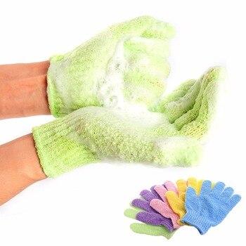 Gant d'épluchage exfoliant résistant | Bain pour éplucher, gant pour la douche, gants de gommage, éponge de Massage corporel, mousse de SPA hydratant pour la peau 1