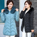 2016 Time-limited Solid Zipper Full Ukraine In The Winter Of 16 New Women's Korean Slim Long Down Jacket Coat Big Collar