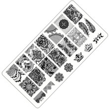 1 Sheet Lace&Flowers Series Stamping Nail Art Image Plate, 6*12cm Stainless Steel Template Polish Manicure Stencil Tools BC-03
