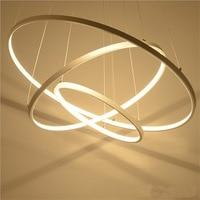 Кольцо LED пост современный Открытый Подвесные Светильники творческая гостиная столовая книжный магазин лампа Костюмы украшения подвесные