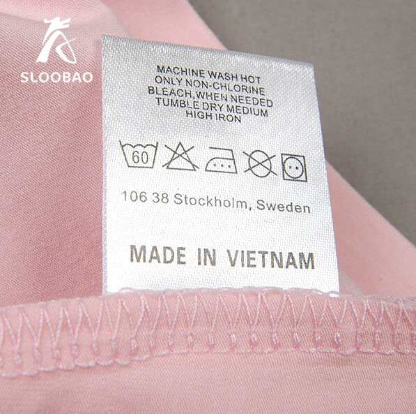 Free Shipping Quality Satin Labels Clothing Instructions