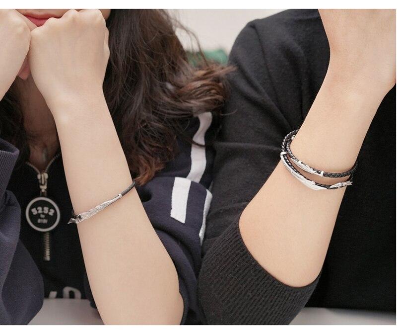 LoL ювелирные изделия, браслет Rakan и Xayah, серебро 925, очаровательные браслеты для женщин и мужчин, подарок на день Святого Валентина, рождественский подарок, бесплатный подарок - 6