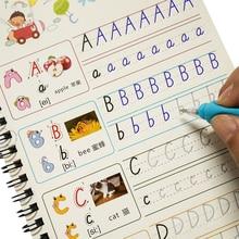 子供アルファベット溝コピーブック26英語の手紙の文字を記述する運動幼稚園就学前のテキストが再利用