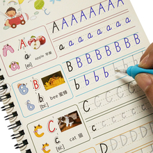 Children alphabet groove copybook 26 English letters Character Exercise Kindergarten pre school to write the text can be reused