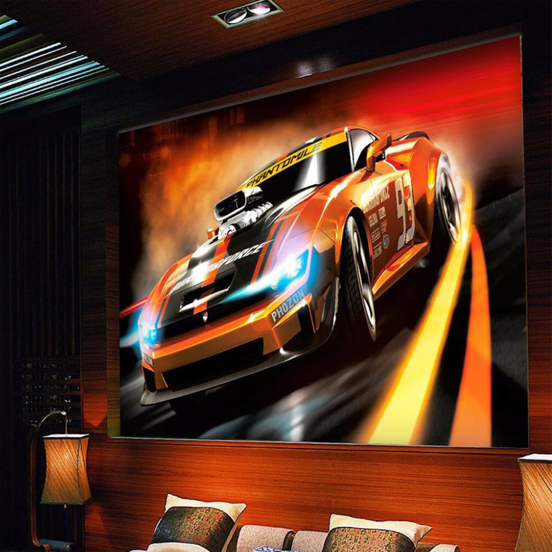 Large Custom Mural Wallpaper 3D Car Poster Murals Living Room Bar KTV TV Background Wall Art Painting Wall Papers Home Decor 3D large mural wallpaper wallpaper ktv theme hotel restaurant 3d d poster three shark underwater world